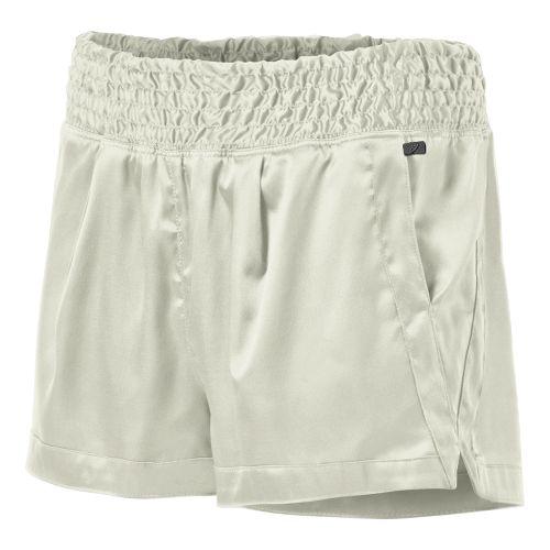 Womens ASICS Fit-Sana Ruched Unlined Shorts - Vanilla Ice L