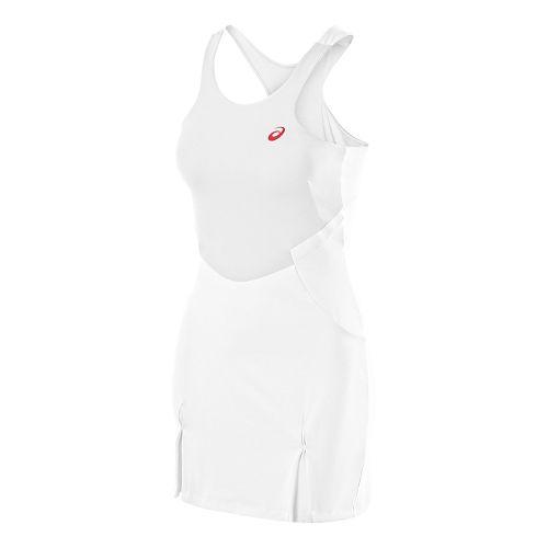 Womens ASICS Athlete Dress Fitness Skirts - Real White L