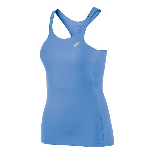 Womens ASICS Athlete Tank Top Tank Technical Tops - Marina XS