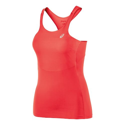 Womens ASICS Athlete Tank Top Tank Technical Tops - Hibiscus M