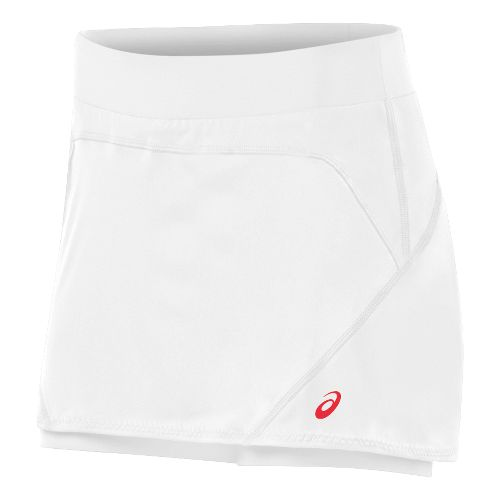 Womens ASICS Athlete Skort Fitness Skirts - Real White M