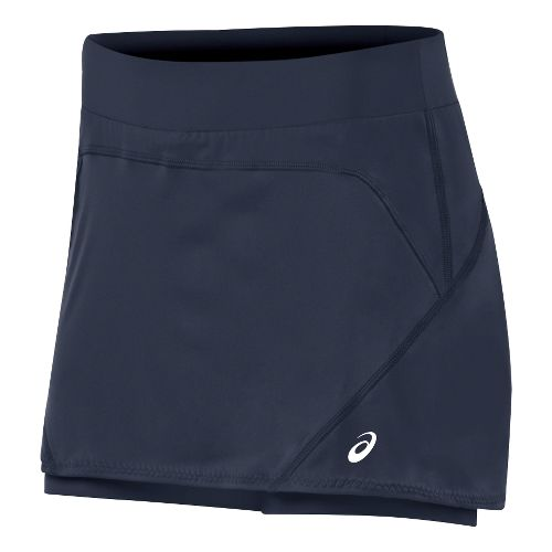 Womens ASICS Athlete Skort Fitness Skirts - Dark Cobalt XL