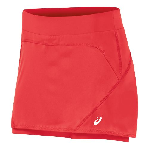 Womens ASICS Athlete Skort Fitness Skirts - Hibiscus S