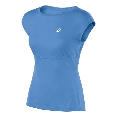 Womens ASICS Athlete Short Sleeve Technical Tops - Marina L
