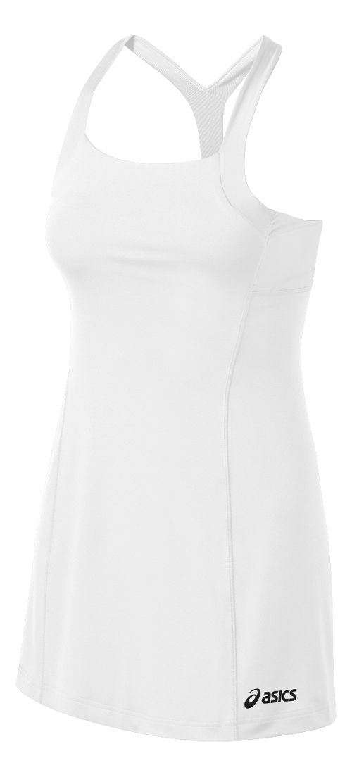Womens ASICS Rally Dress Fitness Skirts - White/White L