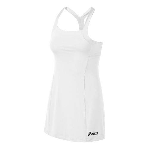 Womens ASICS Rally Dress Fitness Skirts - White/White XL