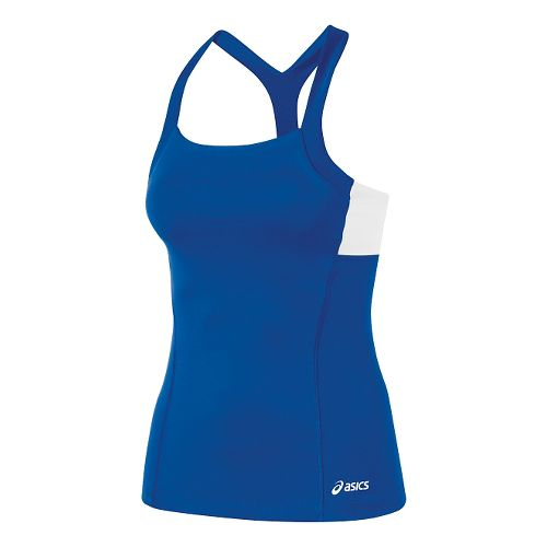 Womens ASICS Rally Tank Technical Tops - Royal/White M
