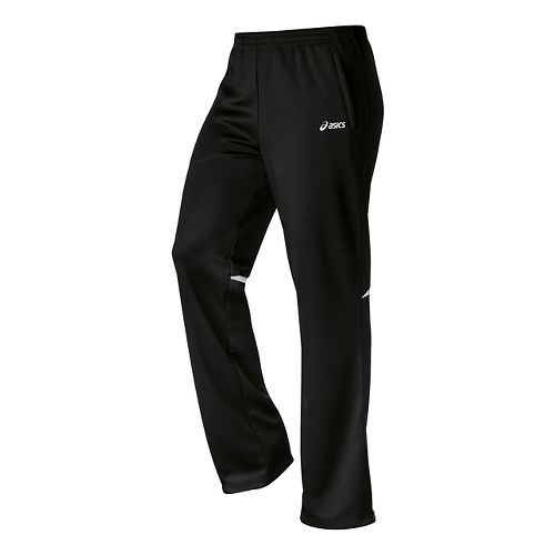 Womens ASICS Cali Full Length Pants - Black/White XL
