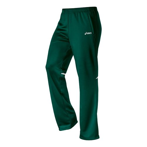 Womens ASICS Cali Full Length Pants - Forest/White M
