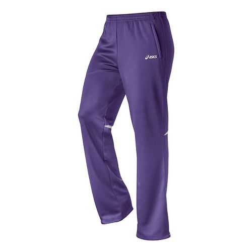 Womens ASICS Cali Full Length Pants - Purple/White L