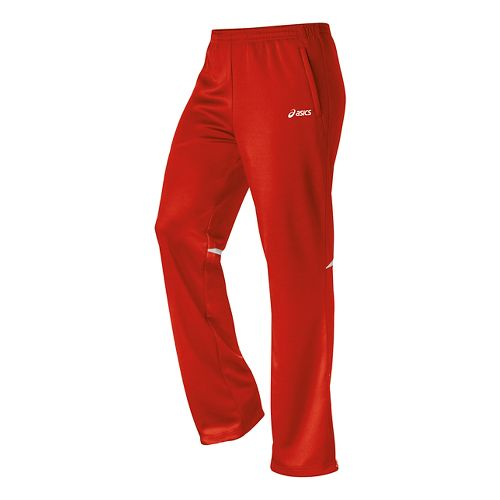 Womens ASICS Cali Full Length Pants - Red/White L