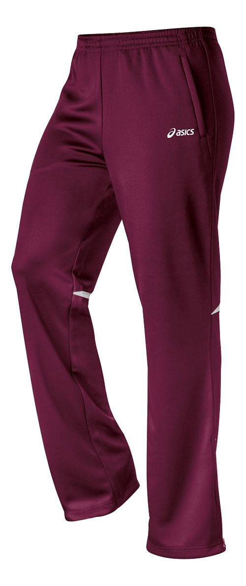 Womens ASICS Cali Full Length Pants - Maroon/White M