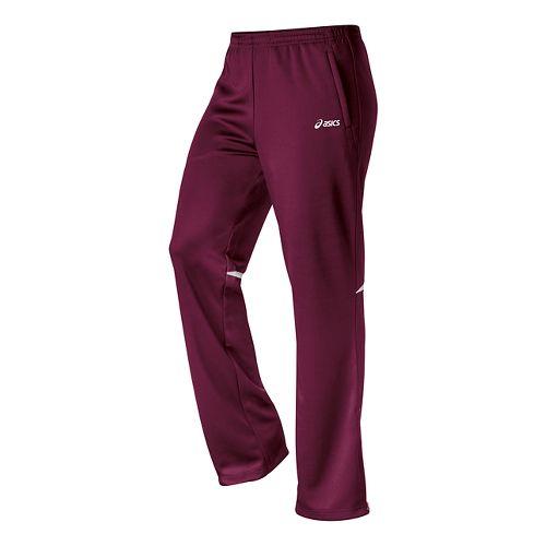 Womens ASICS Cali Full Length Pants - Maroon/White M