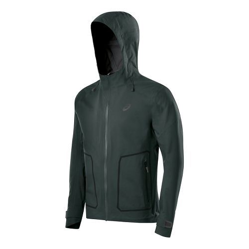 Mens ASICS Warm Up Hooded Jackets - Hampton Green XL