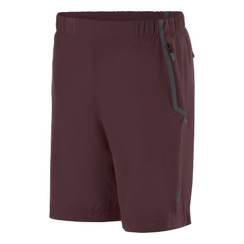 Mens ASICS Woven Unlined Shorts - Rouge Noir XXL