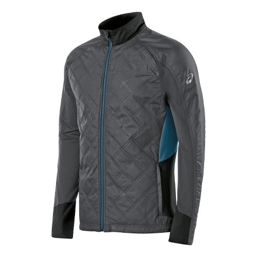 Mens ASICS Thermo Windblocker Lightweight Jackets - Dark Grey/Black L