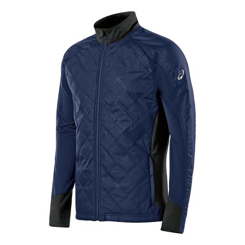 Mens ASICS Thermo Windblocker Lightweight Jackets - Indigo Blue Stripe M