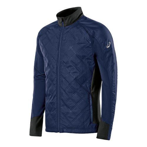 Mens ASICS Thermo Windblocker Lightweight Jackets - Indigo Blue Stripe XL