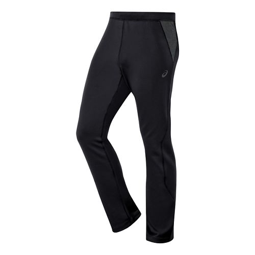 Mens ASICS Thermal XP Slim Full Length Pants - Black/Dark Grey XXL