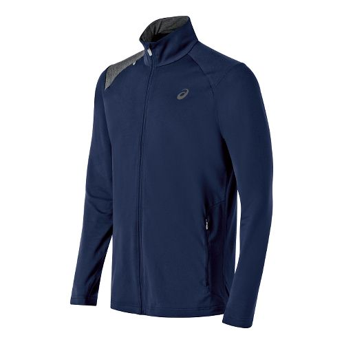 Mens ASICS Thermopolis Full Zip Lightweight Jackets - Indigo Blue/Grey L