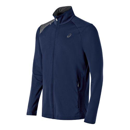 Mens ASICS Thermopolis Full Zip Lightweight Jackets - Indigo Blue/Grey XXL