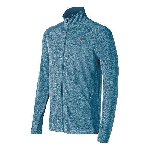Mens ASICS Thermopolis Full Zip Lightweight Jackets - Mosaic Blue Heather M