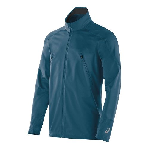 Mens ASICS Lite-Show Winter Lightweight Jackets - Mosaic Blue M