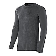 Mens ASICS Seamless Long Sleeve No Zip Technical Tops