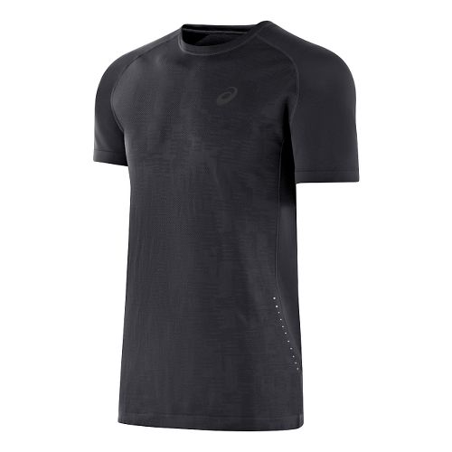 Mens ASICS Seamless Short Sleeve Technical Tops - Performance Black M