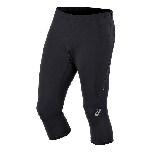 Mens ASICS Race Knee Capri Tights - Performance Black M
