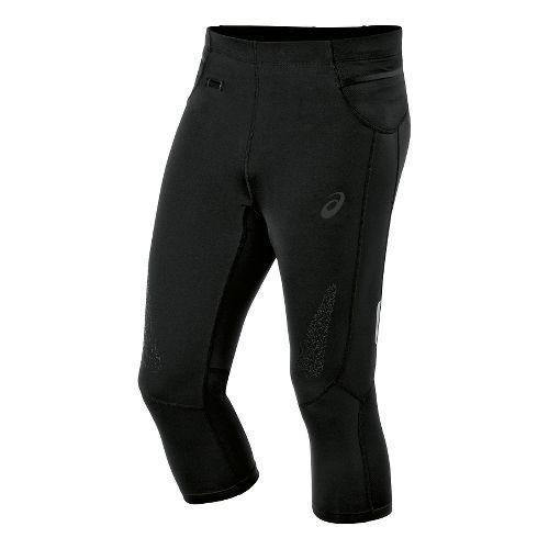 Mens ASICS Fuji trail Knee Capri Tights - Balance Black XXL