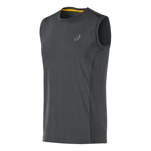 Mens ASICS Fuji trail Sleeveless Technical Tops - Dark Grey S