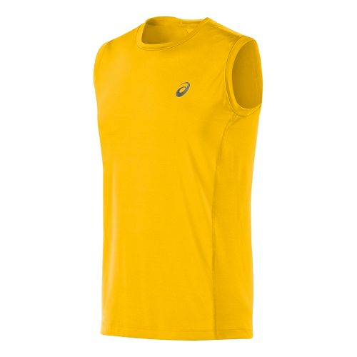 Mens ASICS Fuji trail Sleeveless Technical Tops - Spectra Yellow XL