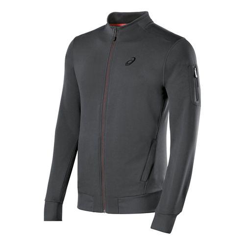Mens ASICS Track Warm Up Unhooded Jackets - Dark Grey L