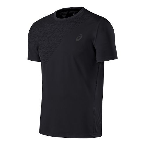 Mens ASICS Performance Tee Short Sleeve Technical Tops - Performance Black L