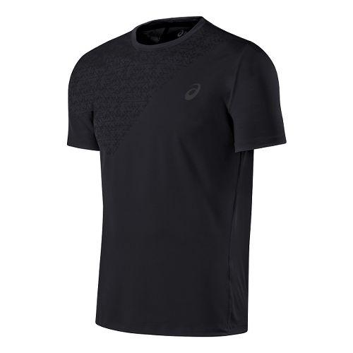 Mens ASICS Performance Tee Short Sleeve Technical Tops - Performance Black XL