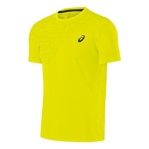 Mens ASICS Performance Tee Short Sleeve Technical Tops - Neon Lime M