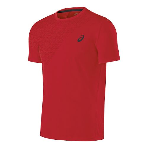 Mens ASICS Performance Tee Short Sleeve Technical Tops - True Red L