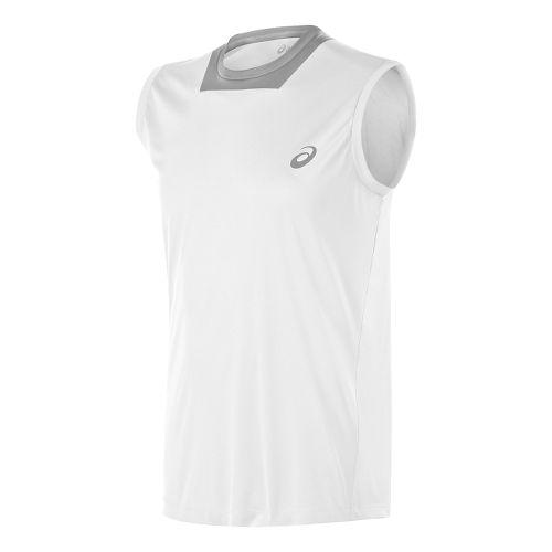 Mens ASICS Athlete Singlet Sleeveless Technical Tops - Real White XL