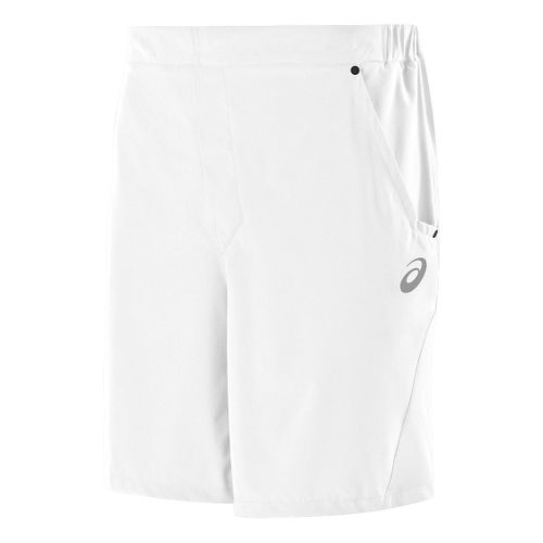 Mens ASICS Athlete Unlined Shorts - Real White S