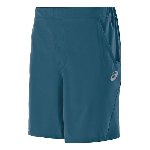 Mens ASICS Athlete Unlined Shorts - Mosaic Blue S