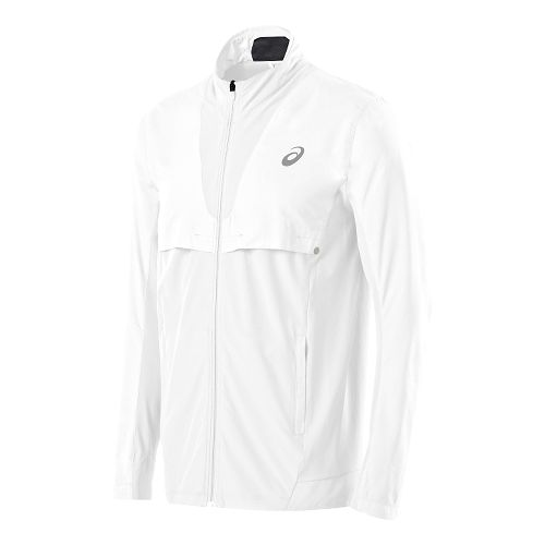 Mens ASICS Athlete Jacket Lightweight Technical Tops - Real White L