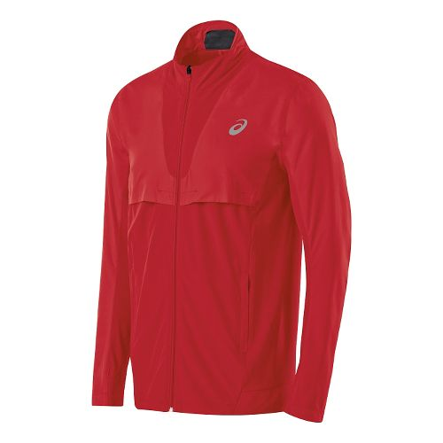 Mens ASICS Athlete Jacket Lightweight Technical Tops - True Red L
