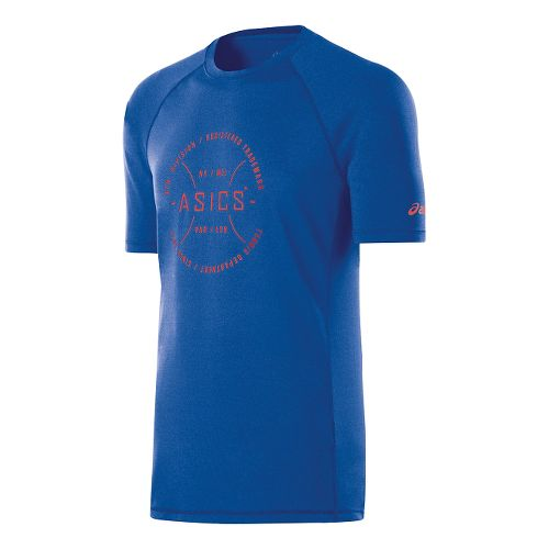 Mens ASICS Tennis Division Tee Short Sleeve Technical Tops - New Blue Heather XXL