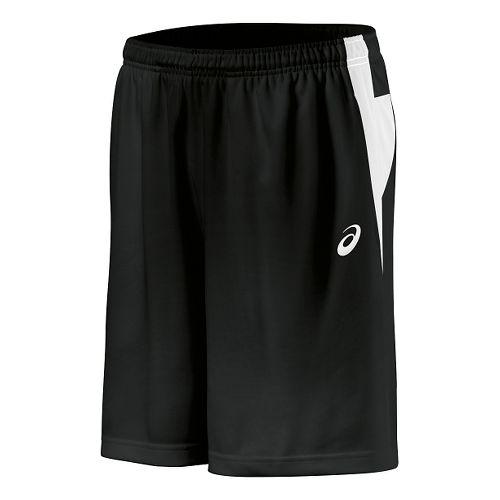 Mens ASICS Court Short Unlined Technical Tops - Black/White XL