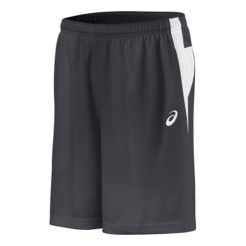 Mens ASICS Court Short Unlined Technical Tops - Steel Grey/White S