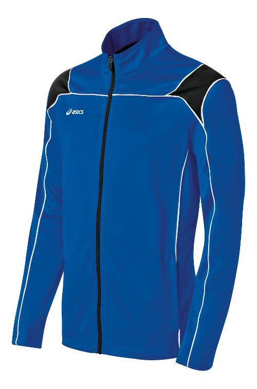Mens ASICS Miles Warm Up Hooded Jackets - Royal/Black XS