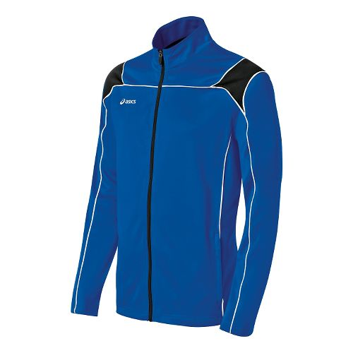 Mens ASICS Miles Warm Up Hooded Jackets - Royal/Black L