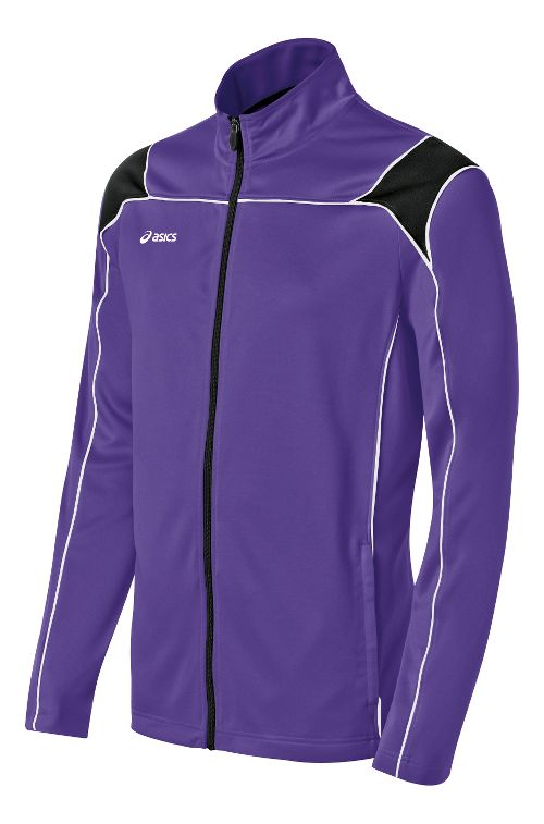 Mens ASICS Miles Warm Up Hooded Jackets - Purple/Black M