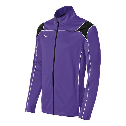 Mens ASICS Miles Warm Up Hooded Jackets - Purple/Black L
